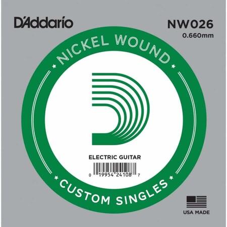 D'Addario NW026 Nickel Wound Elektro Gitar Tek Tel