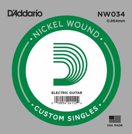 D-Addario - D'Addario NW034 Nickel Wound Elektro Gitar Tek Tel