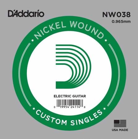 D'Addario NW038 Nickel Wound Elektro Gitar Tek Tel