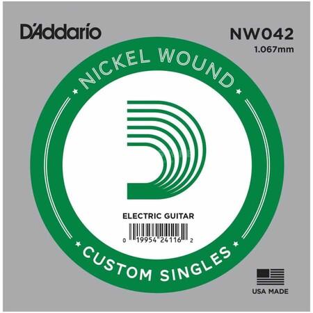 D-Addario - D'Addario NW042 Nickel Wound Elektro Gitar Tek Tel