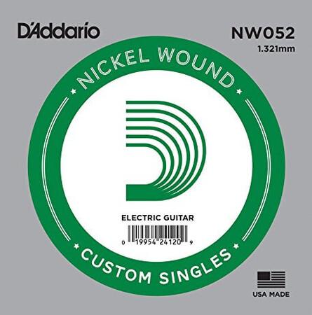 D'Addario NW052 Nickel Wound Elektro Gitar Tek Tel