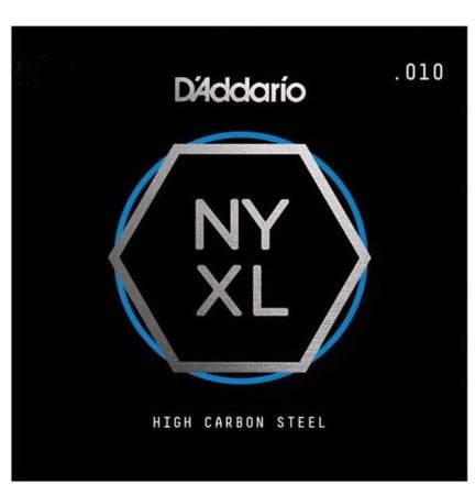 D-Addario - D'Addario NYS010 High Carbon Elektro ve Akustik Tek E Teli 010