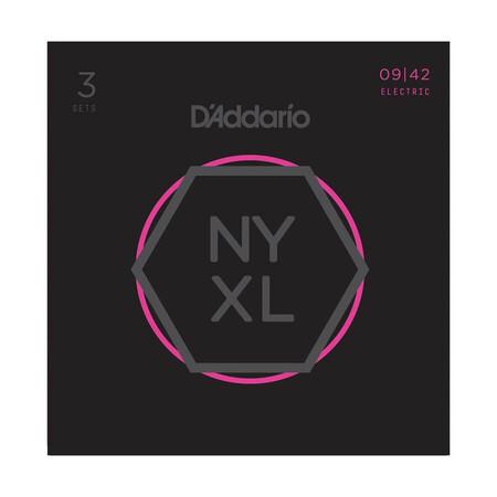D'Addario NYXL0942-3P (3'lü Set) Super Light Nickel Wound Elektro Gitar Teli - Thumbnail