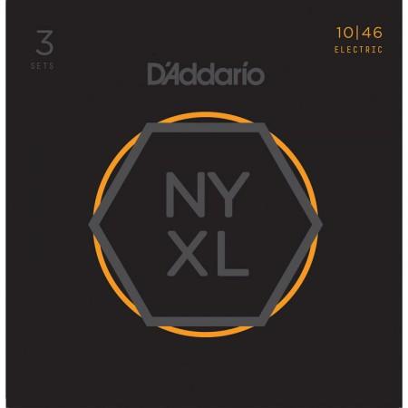D-Addario - D'Addario NYXL1046-3P Nikel Wound Elektro Gitar Tel Takımı 3lü Set