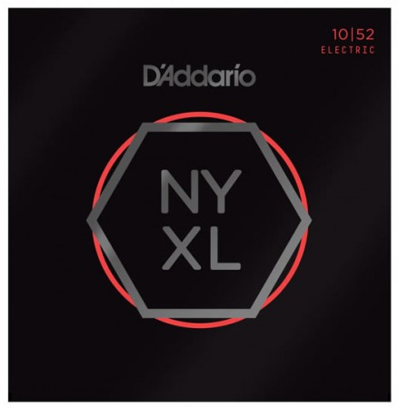 D-Addario - D'Addario NYXL1052 Nickel Wound Light Top / Heavy Bottom, 10-52 Elektro Gitar Takım Tel
