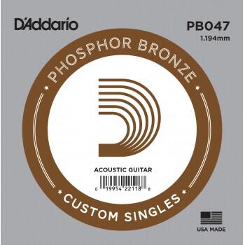 D'Addario PB047 Phosphor Bronze Wound Akustik Gitar Tek Tel