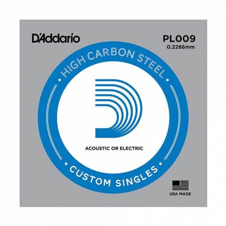D-Addario - D'Addario PL009 Plain Steel Elektro Gitar Tek Mi Teli