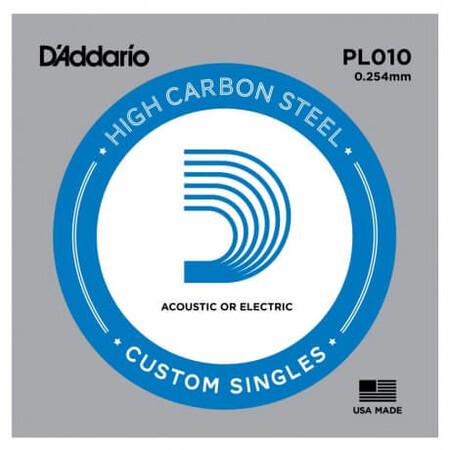 D-Addario - D'Addario PL010 Plain Steel Elektro Gitar Tek Tel