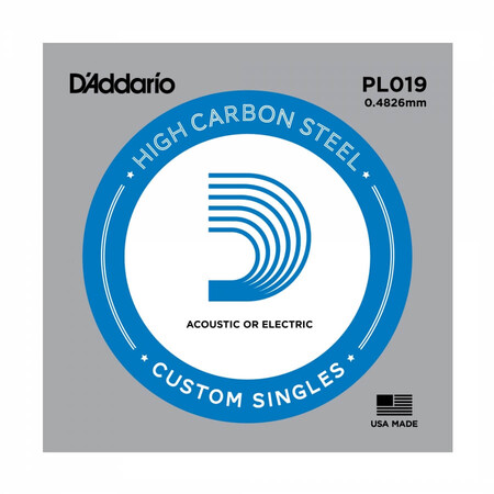 D-Addario - D'Addario PL019 Plain Steel Elektro Gitar Tek Tel
