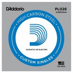 D'Addario PL026 Plain Steel Elektro Gitar Tek Tel
