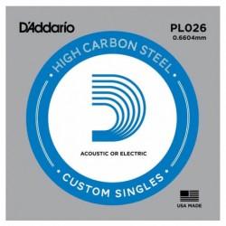 D-Addario - D'Addario PL026 Plain Steel Elektro Gitar Tek Tel