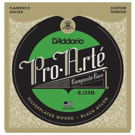 D-Addario - D'Addario Pro-Arte EJ25B Flamenko Black Nylon Klasik Gitar Teli
