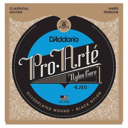 D'Addario Pro-Arte EJ50 Hard Tansiyon Klasik Gitar Teli Black-Nylon