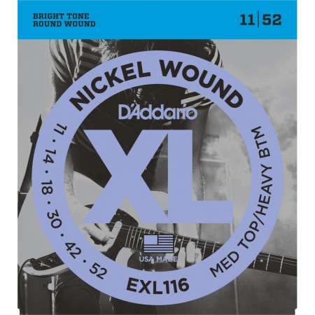 D-Addario - D'Addario XL116 Medium Top / Heavy Bottom Elektro Gitar Tel Takımı (11-52)