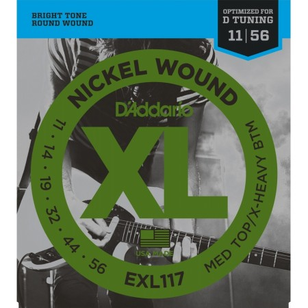 D-Addario - D'Addario XL117 Medium Top / Extra Heavy Bottom Elektro Gitar Tel Seti (11-56)