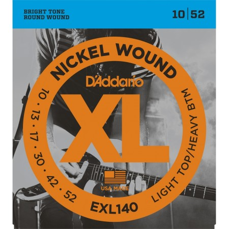 D-Addario - D'Addario XL140 Light Top / Heavy Bottom Elektro Gitar Tel Takımı (10-52)