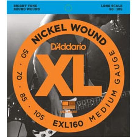 D-Addario - D'Addario XL160 (50-105) 4 Telli Bas Gitar Teli