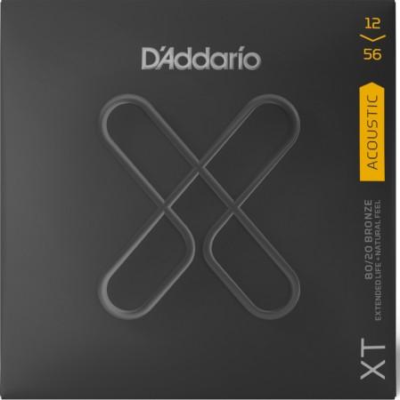 D-Addario - D'Addario XTABR 12-56 XT Bronze Light Top/Medium Akustik Gitar Tel Takımı