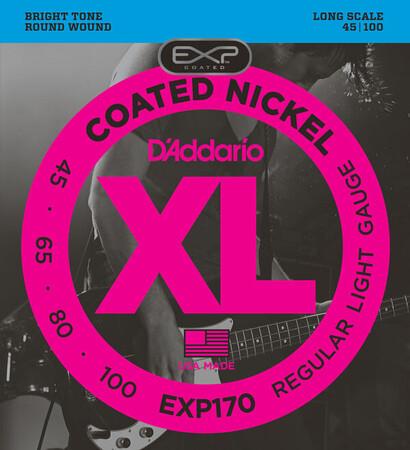 D-Addario - D'Addario EXP170 4 Telli Bas Gitar Tel Takımı Long Scale (45-100)