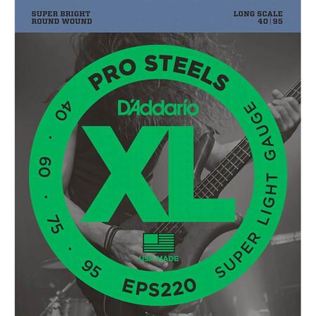 D-Addario - D'Addario EPS220 4 Telli Bas Gitar Tel Takımı Long Scale (40-95)