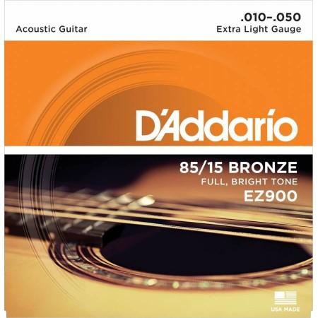 D-Addario - D'Addario EZ900 - Extra Light 10-50 Akustik Gitar Tel Takımı