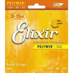 Elixir - Elixir 11600 Light Polyweb Banjo Teli