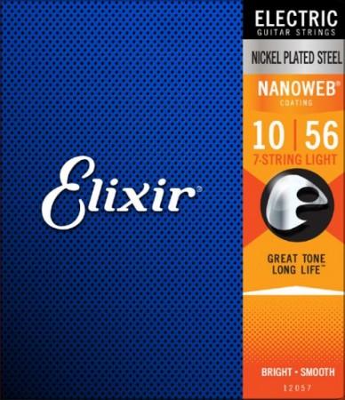 Elixir - Elixir 12057 Nanoweb 7 Telli Elektro Gitar Teli (10-56)