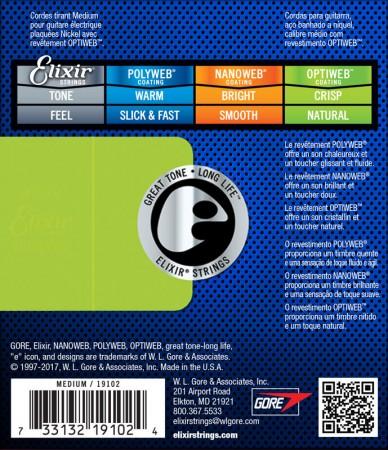 Elixir 19102 Nickel Plated Optiweb 11-49 Elektro Gitar Teli - Thumbnail