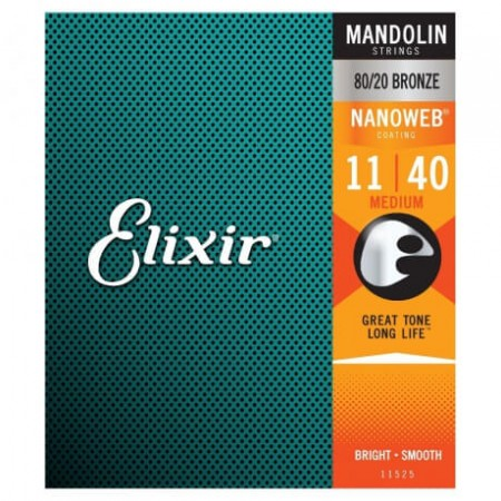 Elixir - Elixir 80/20 Bronze 11525 With Nanoweb Coating Mandolin Teli