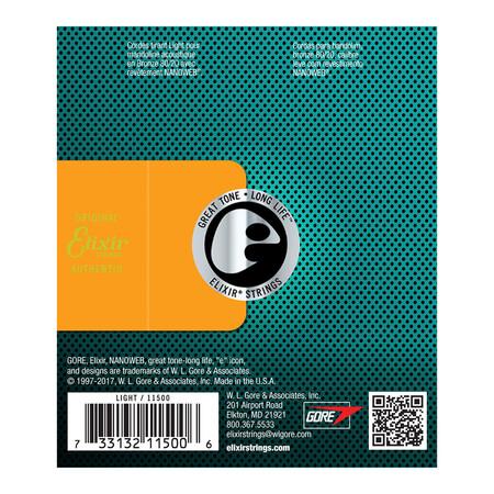 Elixir Nanoweb 11500 Mandolin Teli (10-34) - Thumbnail