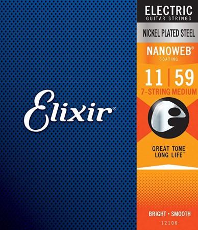 Elixir - Elixir Nanoweb 12106 7 Telli Elektro Gitar Teli (011 - 059)