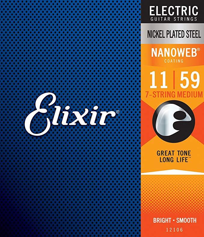 Elixir Nanoweb 12106 7 Telli Elektro Gitar Teli (011 - 059)