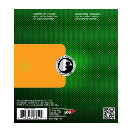 Elixir Nanoweb Stainless Steel 14652 4 Telli Bas Gitar Teli (045-100) - Thumbnail