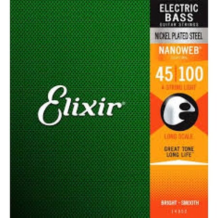 Elixir - Elixir Nanoweb Long Scale 14052 Light 4 Telli Bas Gitar Teli (045-100)