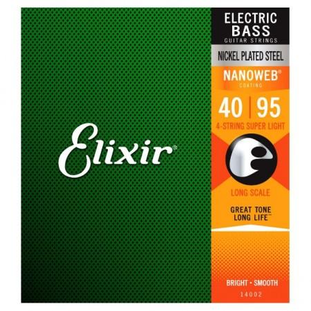 Elixir - Elixir Nanoweb Super Light 14002 4 Telli Bas Gitar Teli (040-095)