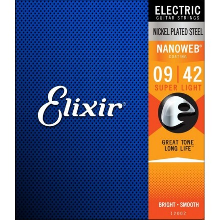 Elixir - Elixir Nanoweb Super Light Elektro Gitar Teli (09-42)