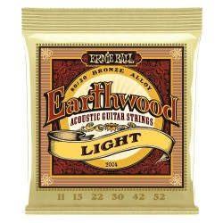 Ernie Ball - Ernie Ball 2004 Earthwood Light 80/20 Bronze 11-52 Akustik Gitar Teli
