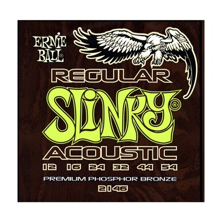 Ernie Ball 2146 Regular Slinky Bronze 12-54 Akustik Gitar Teli