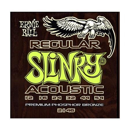 Ernie Ball - Ernie Ball 2146 Regular Slinky Bronze 12-54 Akustik Gitar Teli