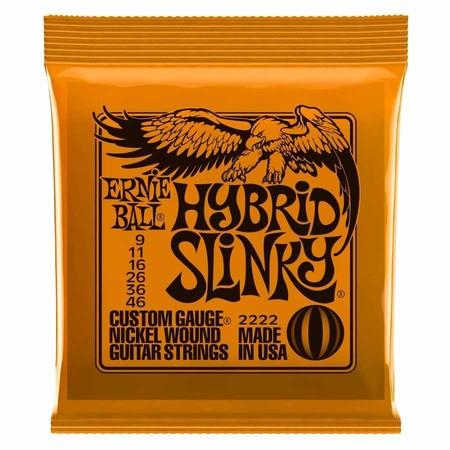 Ernie Ball 2222 Hybird Slinky Nickel 09-46 Elektro Gitar Teli