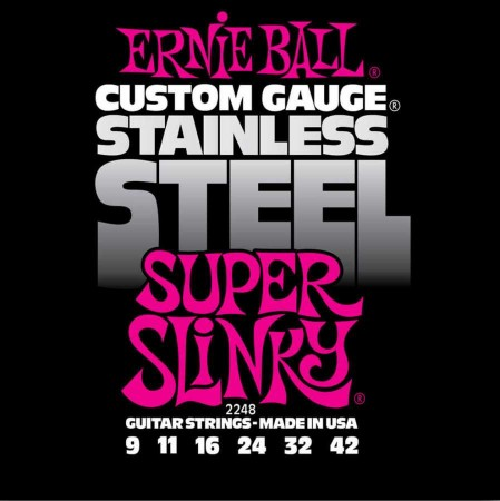 Ernie Ball 2248 Stainless Steel Super Slinky 09-42 Elektro Gitar Teli