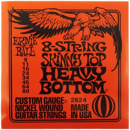 Ernie Ball - Ernie Ball 2624 Slinky Skinny Top Heavy Bottom 8 Telli (09 – 80) Elektro Gitar Teli
