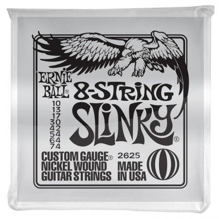 Ernie Ball - Ernie Ball 2625 Slinky Electric Nickel Wound 8 Telli (10 - 74) Elektro Gitar Teli
