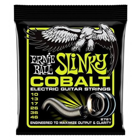 Ernie Ball 2721 Cobalt Regular Slinky Elektro Gitar Teli (10-46)