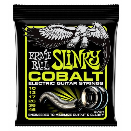 Ernie Ball - Ernie Ball 2721 Cobalt Regular Slinky Elektro Gitar Teli (10-46)