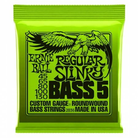 Ernie Ball - Ernie Ball 2836 Regular Slinky Nickel 45-130 (5 Telli) Bas Gitar Teli