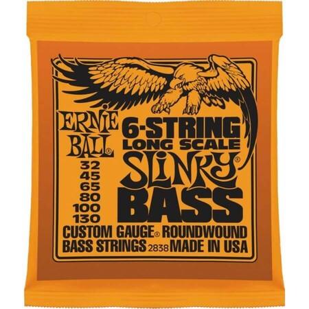 Ernie Ball 2838 Slinky Nickel 32-130 (6 Telli) Bas Gitar Teli