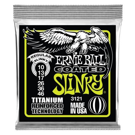 Ernie Ball - Ernie Ball 3121 Titanium Coated Hybrid Slinky Elektro Gitar Teli (10-46)
