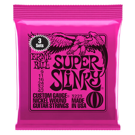 Ernie Ball - Ernie Ball 3223 Regular 09-42 Slinky Nickel Wound 3 'lü Set Elektro Gitar Teli