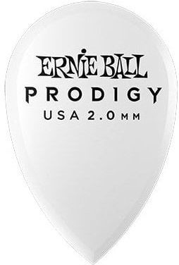 Ernie Ball - Ernie Ball 9336-2.0mm White Teardrop Prodigy Pick 6'lı Paket